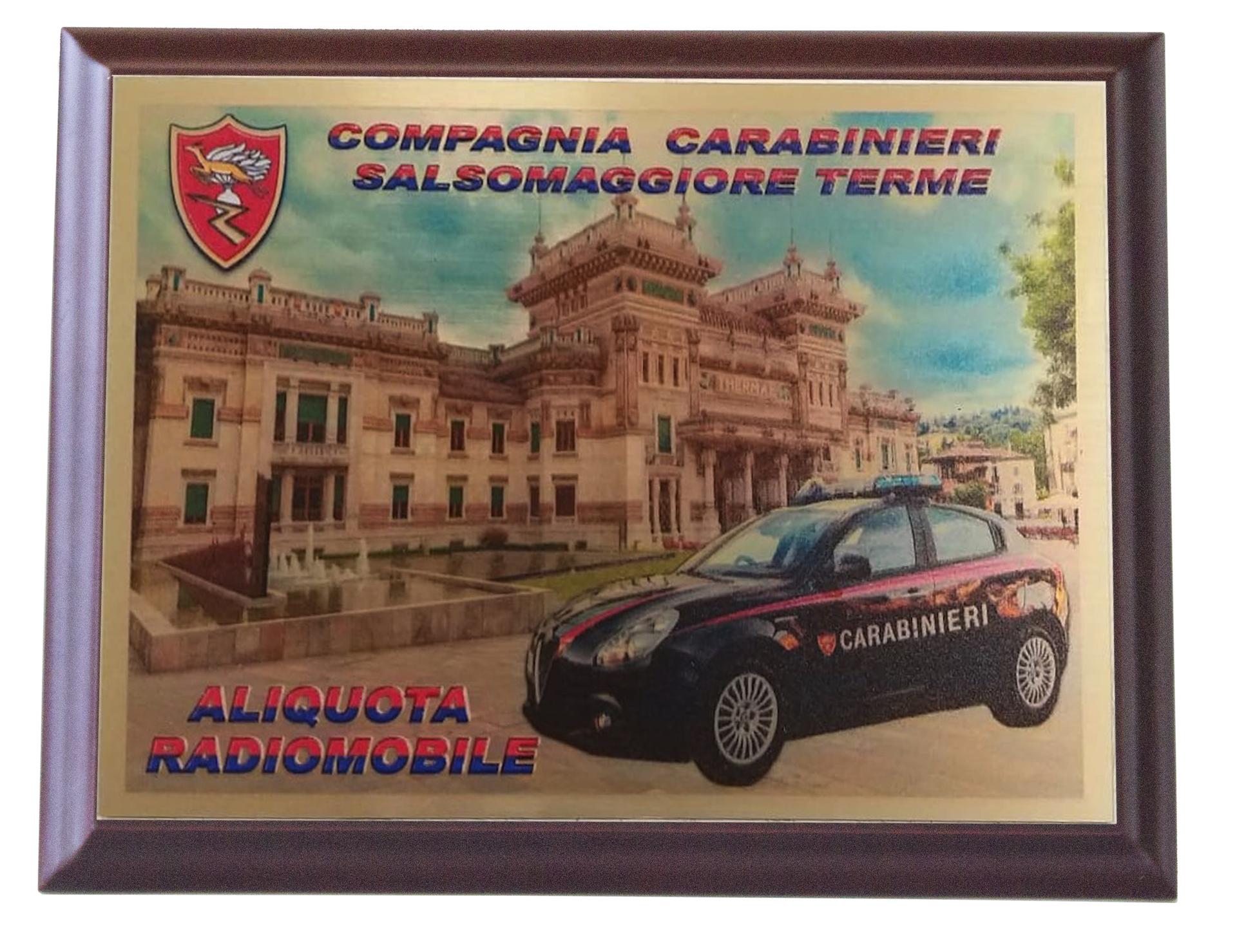 Quadro Personalizzato Carabinieri Salsomaggiore Terme