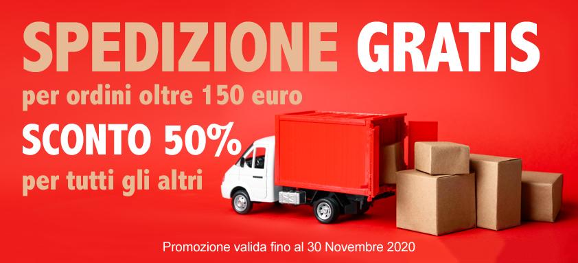 Spedizione sconto 50% Collezioni Italia